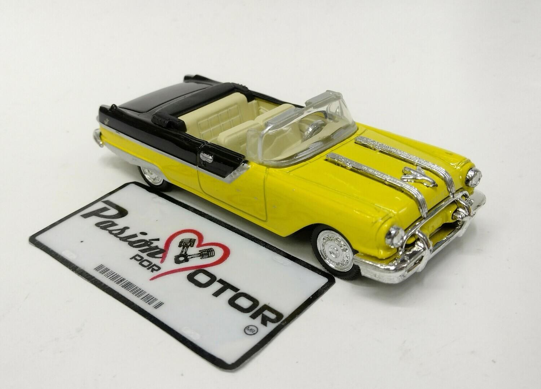 New Ray 1:43 Pontiac Starchieff Convertible 1955 Amarillo y negro City Cruiser En Caja
