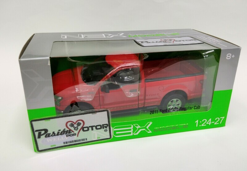 Welly 1:24 Ford F-150  Pick Up Regular Cab XL 2015 Blanco Nex Models En Caja