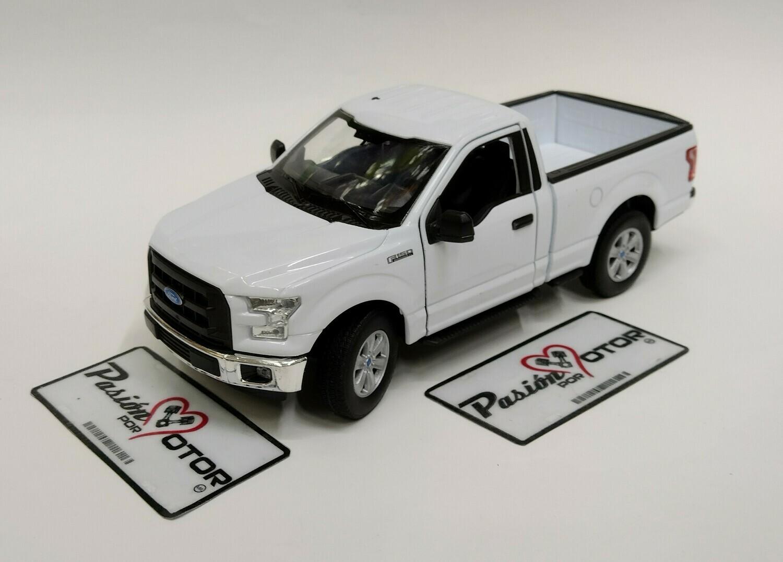 Welly 1:24 Ford F-150  Pick Up Regular Cab XL 2015 Blanco Nex Models Display a Granel