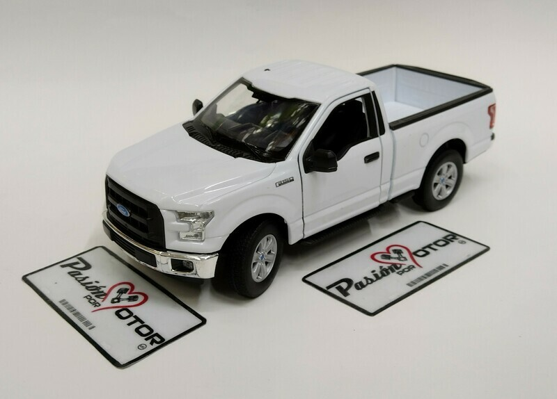 Welly 1:24 Ford F-150  Pick Up Regular Cab XL 2015 Blanco Nex Models Display a Granel