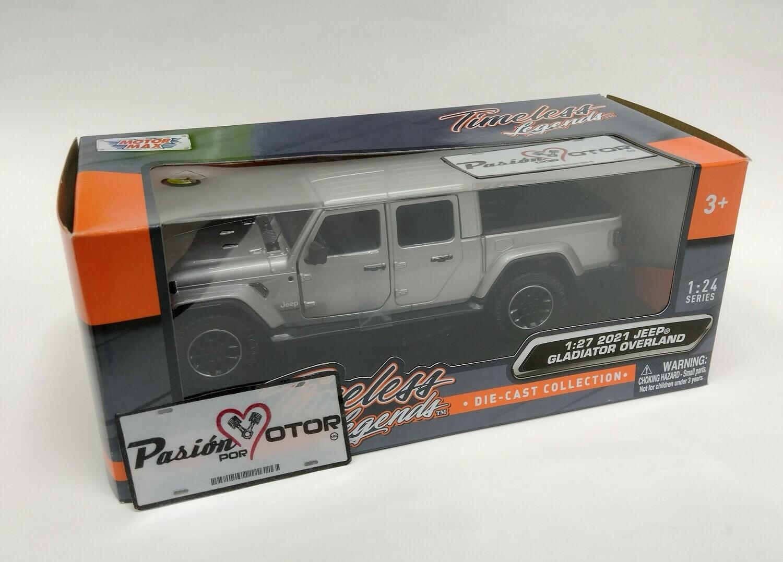Motor Max 1:27 Jeep Gladiator Pick Up Overland 2021 Plata Timeless Legends Con Caja 1:24