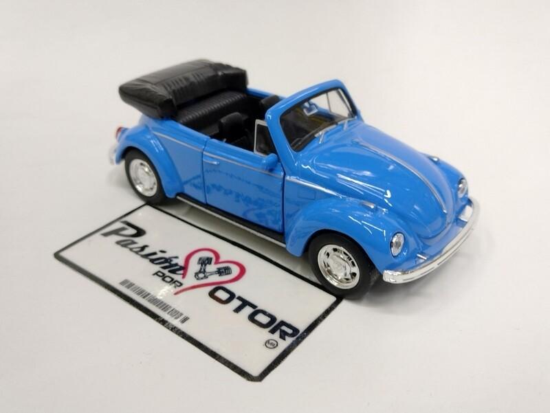 Welly 1:33 Volkswagen Beetle Cabriolet 1302 1971 Azul Nex Models Display a Granel 1:32