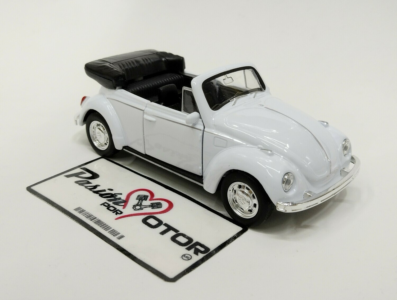 Welly 1:33 Volkswagen Beetle Cabriolet 1302 1971 Blanco Nex Models Display a Granel 1:32