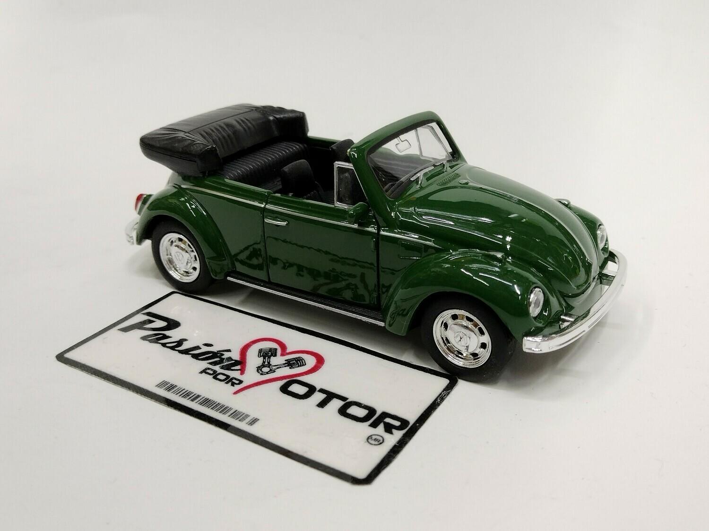 Welly 1:33 Volkswagen Beetle Cabriolet 1302 1971 Verde Nex Models Display a Granel 1:32