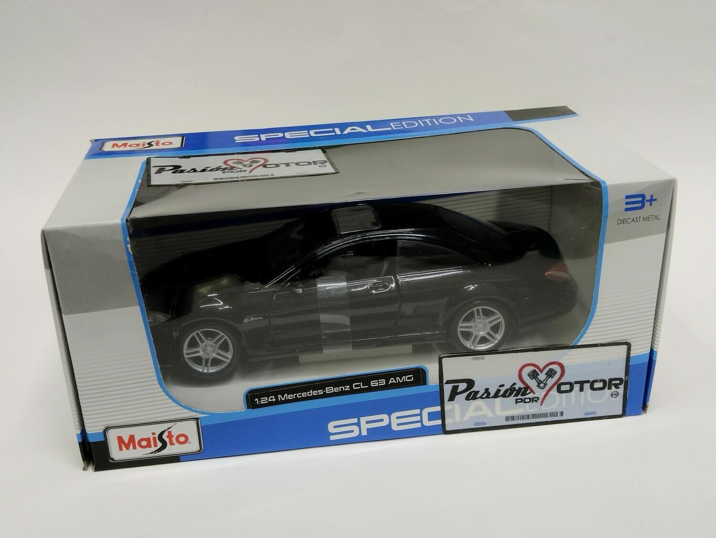 Maisto 1:26 Mercedes Benz CL63 AMG Coupe 2007 Negro Special Edition Con Caja 1:24