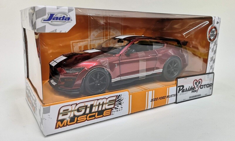 Jada Toys 1:24 Ford Mustang Shelby Coupe GT500 2020 Rojo Candy Big Time Muscle Con Caja Cobra