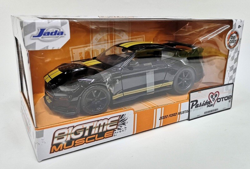 Jada Toys 1:24 Ford Mustang Shelby Coupe GT500 2020 Negro Big Time Muscle Con Caja