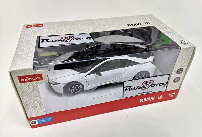 Rastar 1:24 BMW i8 Coupe 2018 Blanco Con Caja