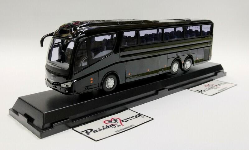 Cararama 1:50 Scania Irizar PB Autobus Tres Ejes 2001 Negro Con Caja