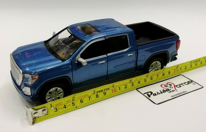 Motor Max 1:27 GMC Sierra Denali Pick Up Crew Cab 2019 Azul	Timeless Legends Display / a granel 1:24