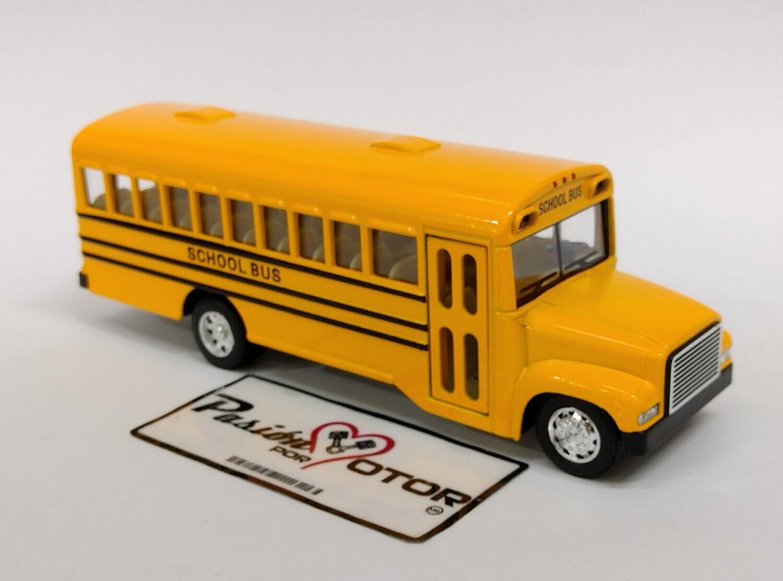Kinsmart 1:68 Autobus Escolar School Bus 6.5 Amarillo Display a Granel 1:64