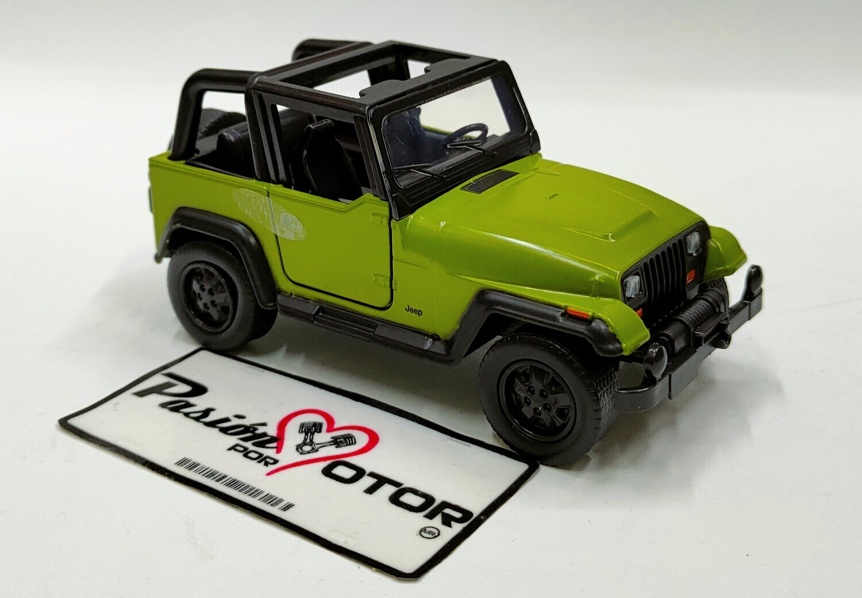 Jada Toys 1:35 Jeep Wrangler 1992 Verde Just Trucks En Caja 1:32
