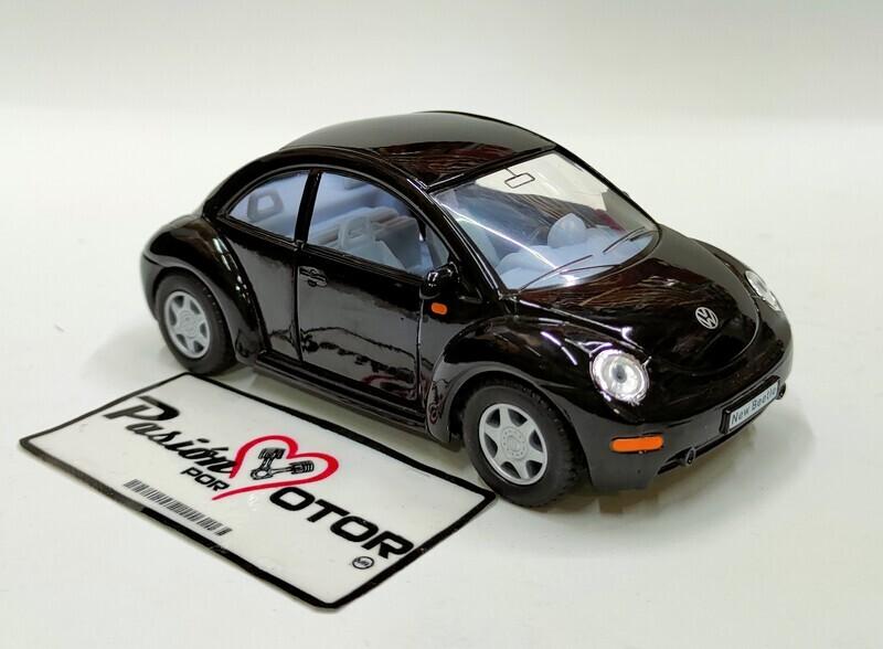 Kinsmart 1:32 Volkswagen New Beetle Coupe 1998 Negro Display a Granel