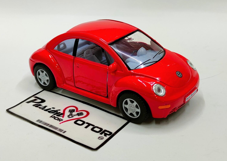 Kinsmart 1:32 Volkswagen New Beetle Coupe 1998 Rojo Display a Granel