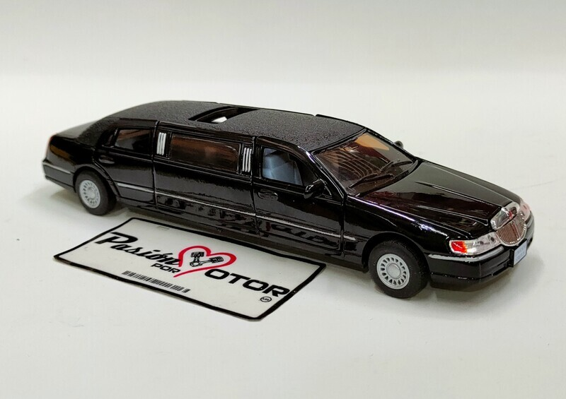 Kinsmart 1:38 Lincoln Town Car Limousine Stretch 1999 Negro Display a Granel 1:32