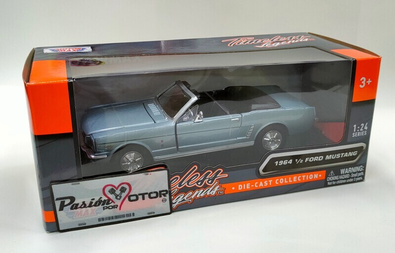 Motor Max 1:24 Ford Mustang Convertible 1964 1/2 Azul Timeless Legends Con Caja Shelby