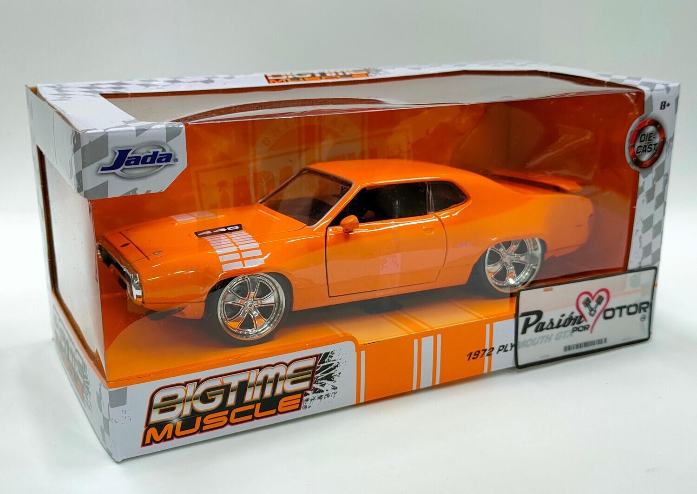 Jada Toys 1:24 Plymouth GTX 440 Coupe 1972 Naranja Big Time Muscle Con Caja