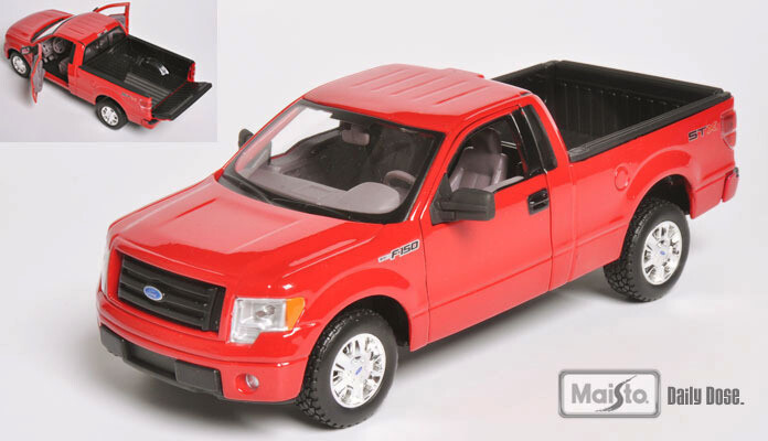 Maisto 1:27 Ford F-150 STX Pick Up Cabina Sencilla 2010 Rojo Special Edition Display a Granel 1:24