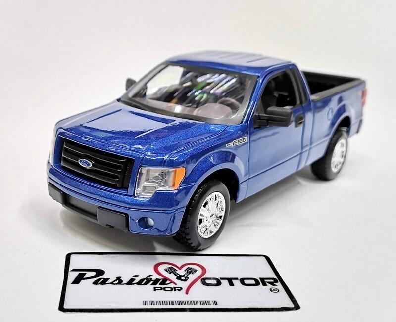 Maisto 1:27 Ford F-150 STX Pick Up Cabina Sencilla 2010 AzulSpecial Edition En Display / A Granel 1:24