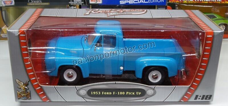 Lucky Die Cast 1:18 Ford F-100 Pick Up 1953 Azul Cielo Road Legends En Caja