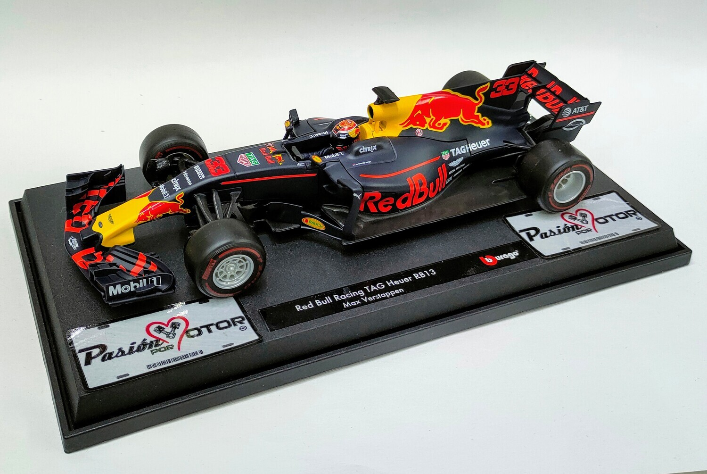 Bburago 1:18 Red Bull Racing TAG Heuer RB13 Max Verstappen 2017 Race Con Caja Formula 1 F1