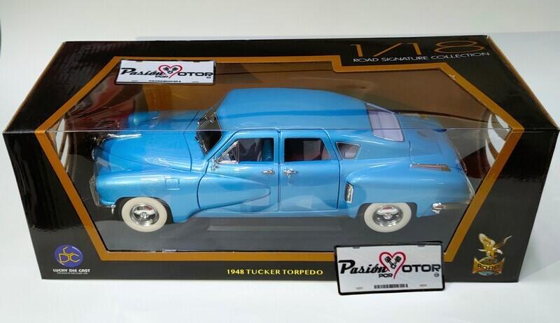 Lucky Die Cast 1:18 Tucker Torpedo Sedan 1948 Azul Road Legends Con Caja