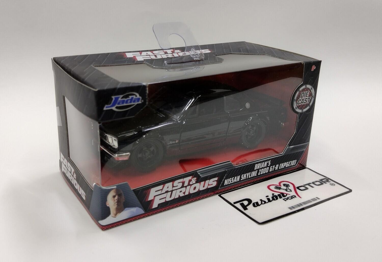 Jada Toys 1:32 Nissan Skyline 2000 GT-R KPGC10 Coupe Brian´s 1971 Negro Rapido y Furioso 5 En Caja