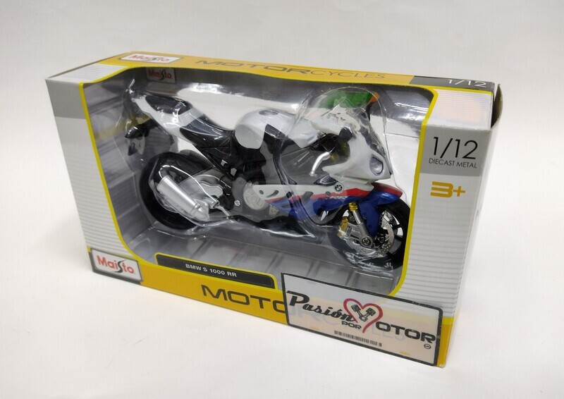 Maisto 1:12 BMW S 1000 RR Motocicleta 2010 Blanco c Graficos Special Edition Con Caja