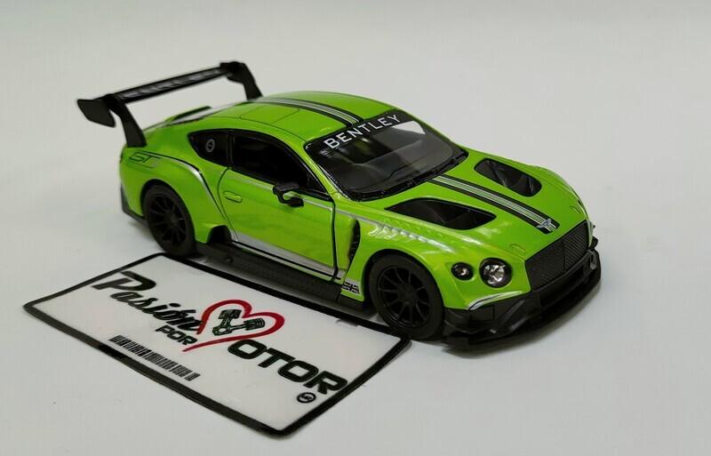 Kinsmart 1:38 Bentley Continental GT3 Coupe 2018 Verde Display a Granel 1:32