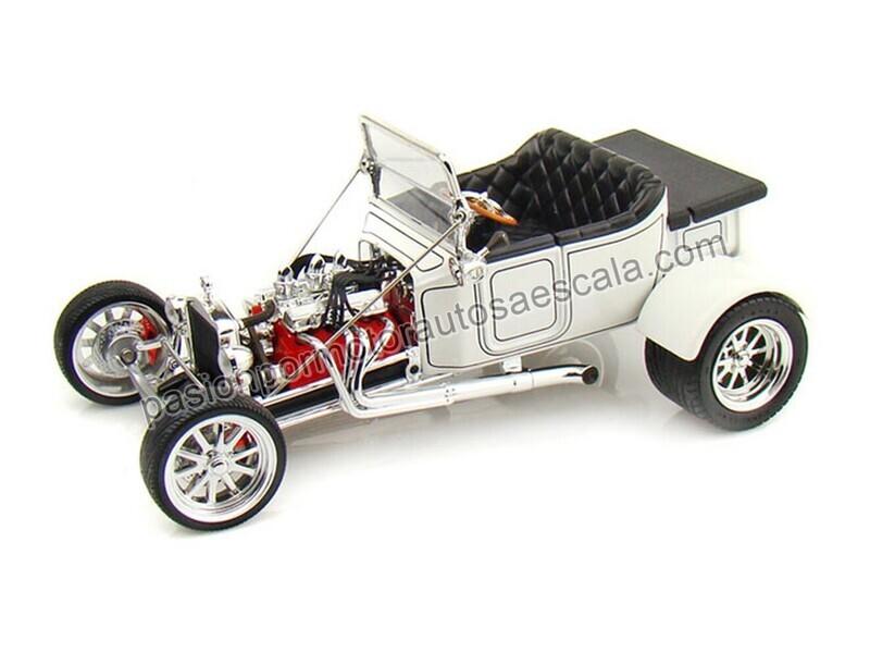 Lucky Die Cast 1:18 Ford Model T Bucket Roadster 1923 Blanco Road Legends Con Caja