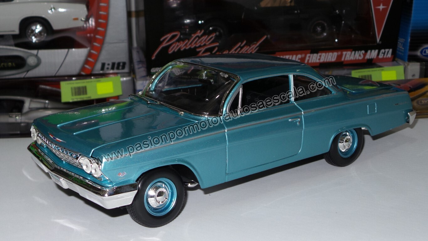 Maisto 1:18 Chevrolet Bel Air Biscayne Coupe 1962 Turquesa Special Edition Con Caja