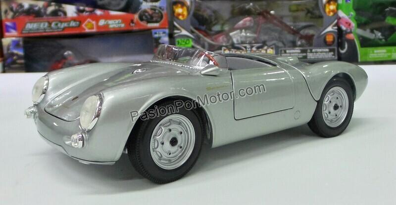 Maisto 1:18 Porsche 550 A Spyder 1953 Plata Special Edition Con Caja