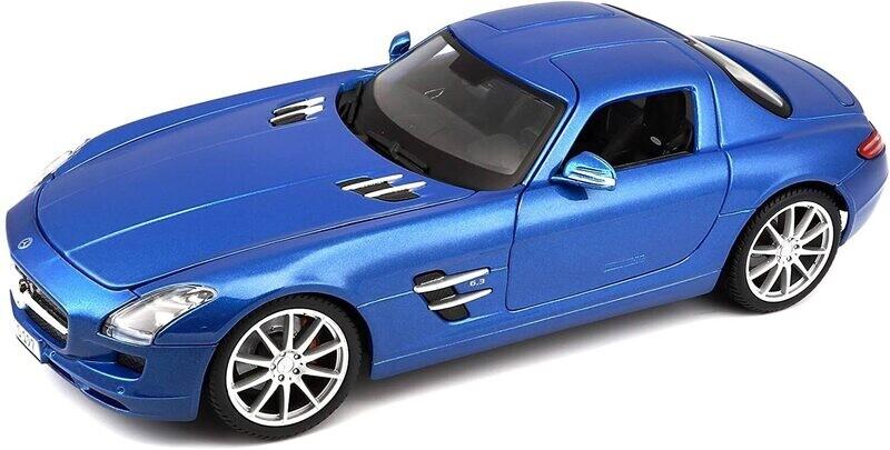 Maisto 1:18 Mercedes Benz SLS AMG Coupe 2010 Azul Premier Edition Con Caja