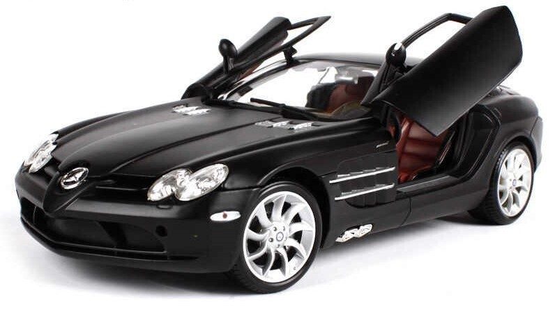 Maisto 1:18 Mercedes Benz SLR McLaren Coupe 2004 Negro Premier Edition Con Caja
