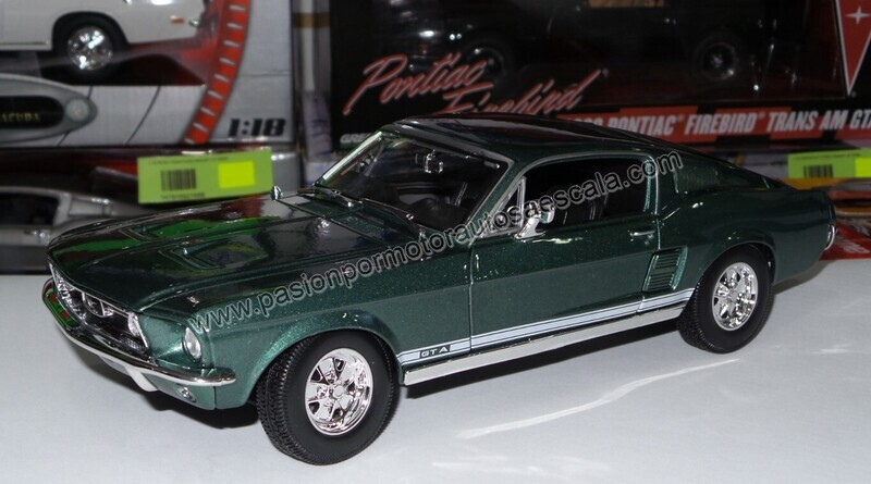 Maisto 1:18 Ford Mustang GT A Fastback 1967 Verde Special Edition Con Caja