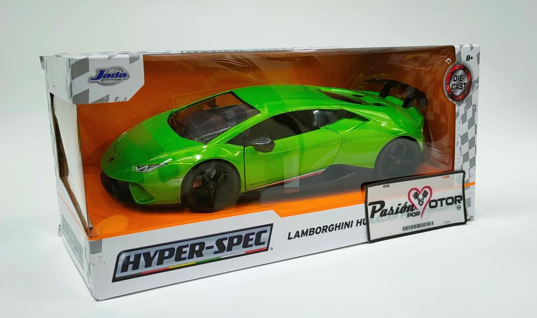 Jada Toys 1:24 Lamborghini Huracan LP640-4 Performante Coupe 2017 Verde con graficos Hyper-Spec Con Caja
