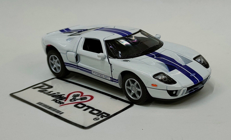 Kinsmart 1:36 Ford GT Coupe 2006 Blanco Display a Granel 1:32