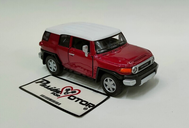Kinsmart 1:36 Toyota FJ Cruiser SUV 2006 Rojo Display a Granel 1:32
