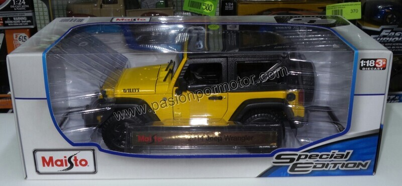 1:18 Jeep Wrangler Willys 2014 Soft Top Amarillo Maisto Special Edition 1:18
