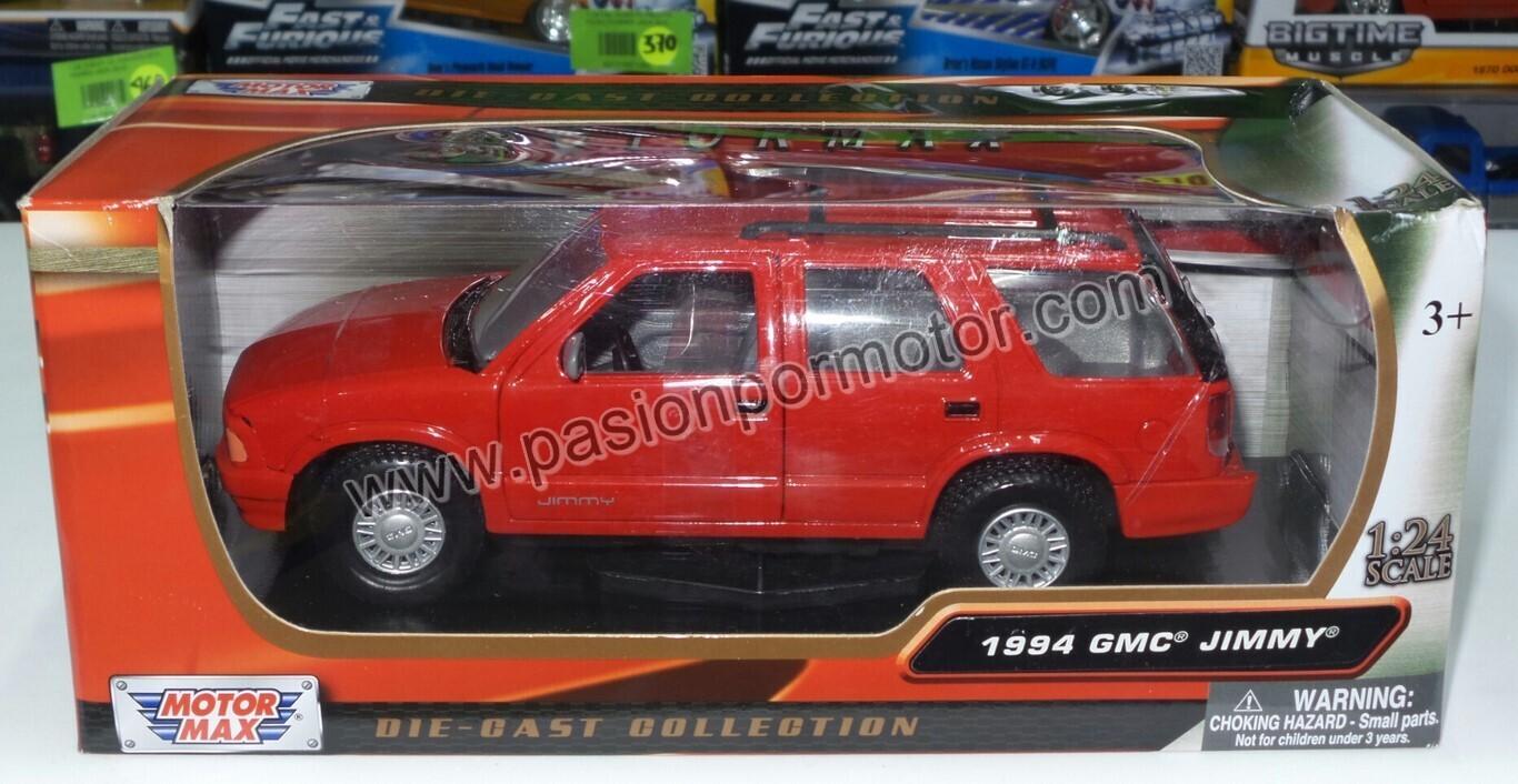 1:24 GMC Jimmy SUV 4 Puertas 1994 Rojo Motor Max C Caja