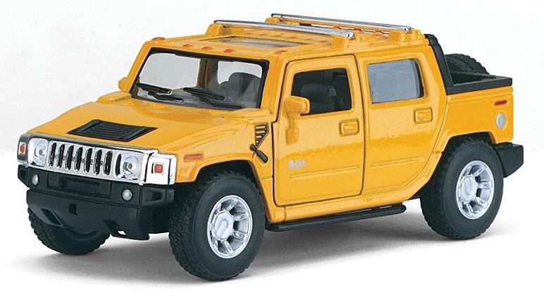 Kinsmart 1:40 Hummer H2 SUT 2005 Amarillo Display a Granel 1:43