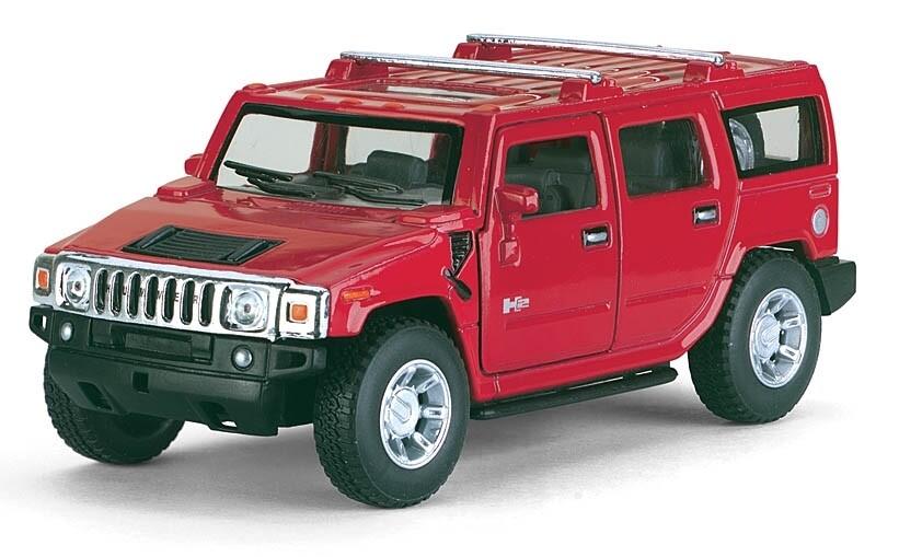 Kinsmart 1:40 Hummer H2 SUV 2005 Rojo Display a Granel 1:43