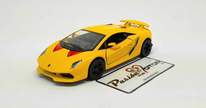 1:38 Lamborghini Sesto Elemento Coupe 2012 Amarillo Kinsmart Display a Granel 1:32