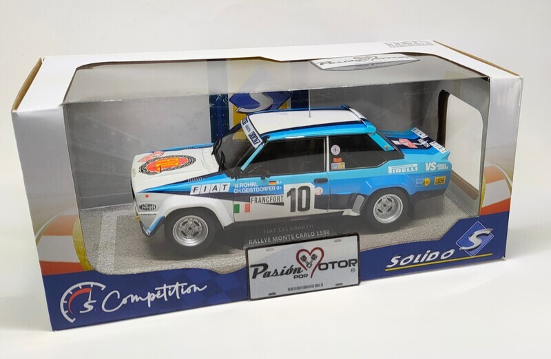 1:18 Fiat 131 Abarth Coupe Rally Monte Carlo #10 Walter Röhrl - Christian Geistdorfer 1980 Solido Competition Con Caja