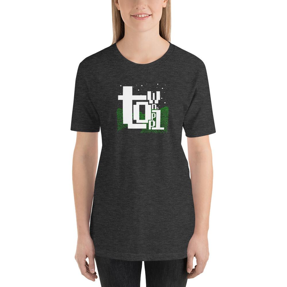 unisex t-shirt white text