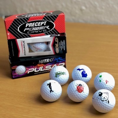 Custom Printed Golf Ball Sleeve- 3 Balls