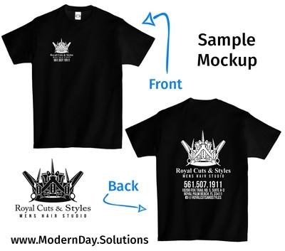 Custom Printed Colored T-Shirt
