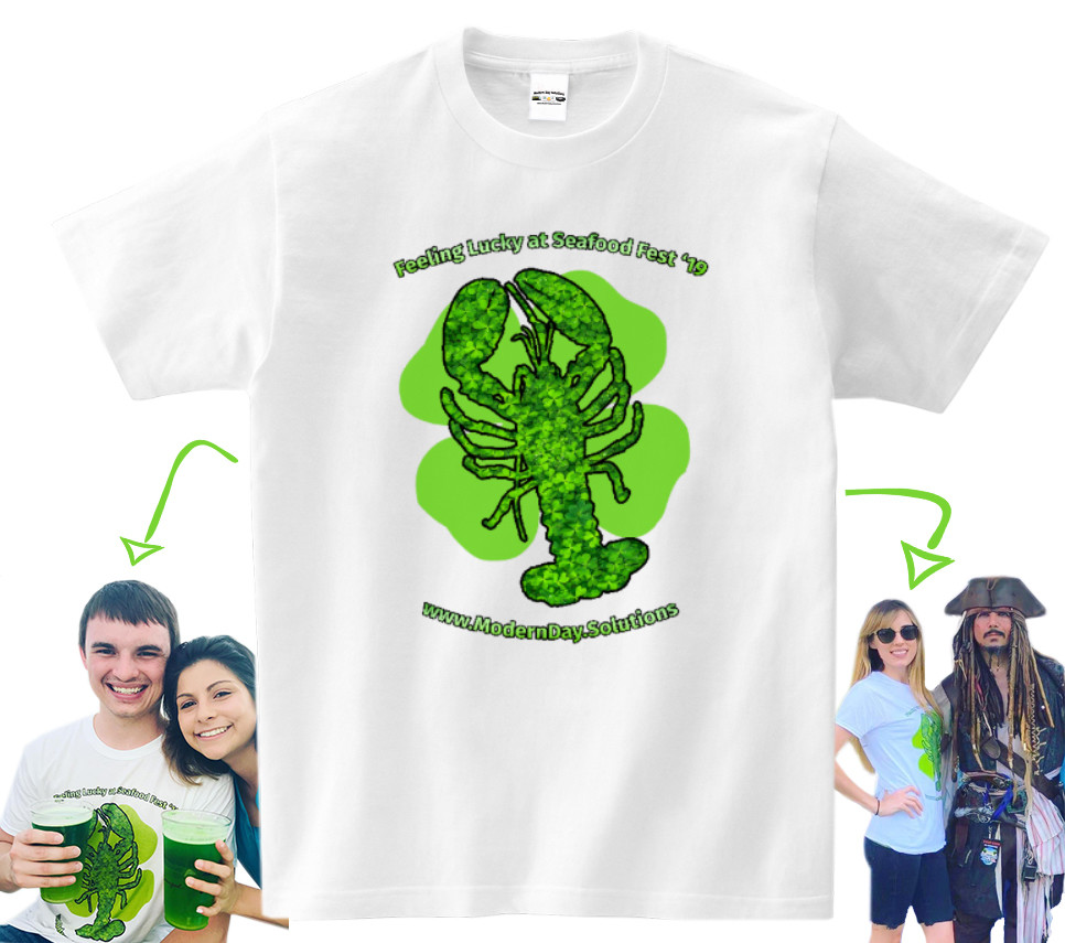 Custom Printed White T-Shirt