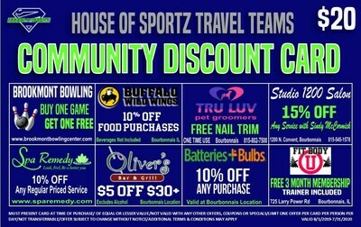 Player Fundraiser Community Discount Card