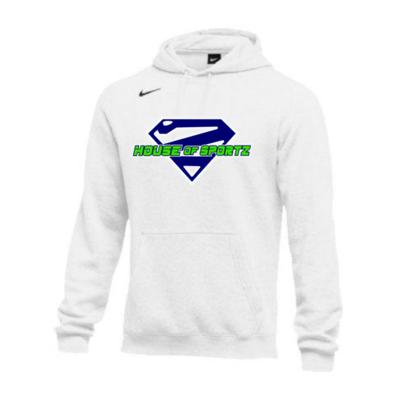 Nike Club Fleece Hoodie - White